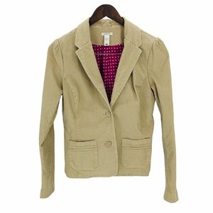 OLD NAVY Tan Lined Corduroy Button Blazer Small